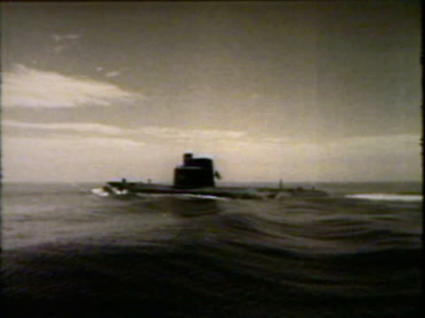 submarine above water - submarine stock videos and b-roll footage