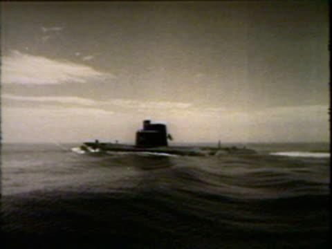 submarine above water - submarine stock videos & royalty-free footage
