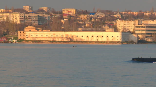 submarine and sea fort