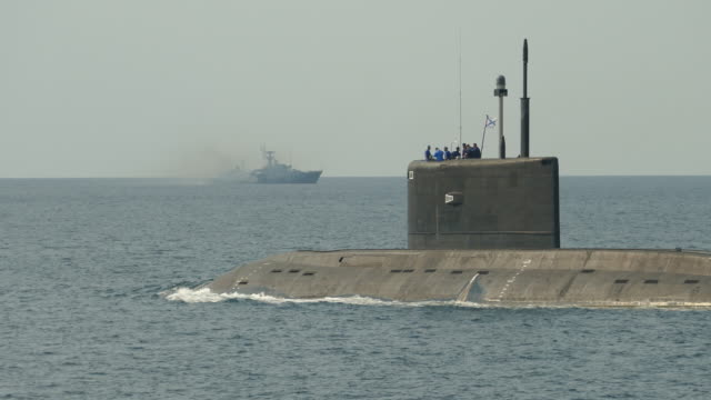 submarine at sea military exercises - submarine stock videos and b-roll footage
