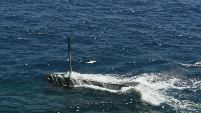 MS TS ZO Submarine diving into ocean until no longer visible, Perth, Western Australia, Australia