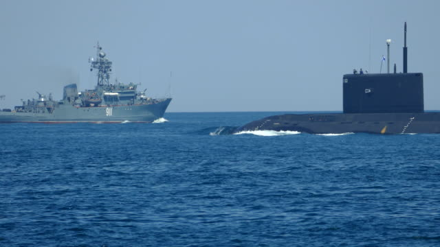 submarine in naval exercises - navy stock videos & royalty-free footage
