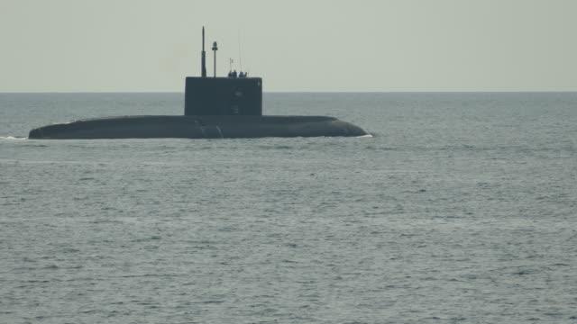 submarine on patrol at sea