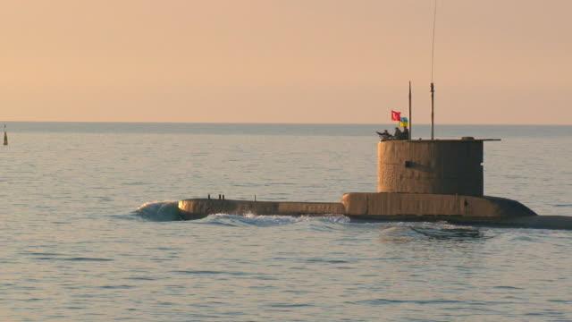 submarine on the high seas - submarine stock videos and b-roll footage