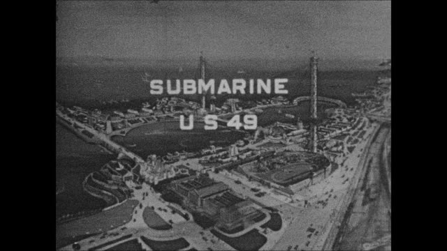 u.s.s. submarine s-49 at 1933 chicago world's fair - chicago world's fair stock videos & royalty-free footage