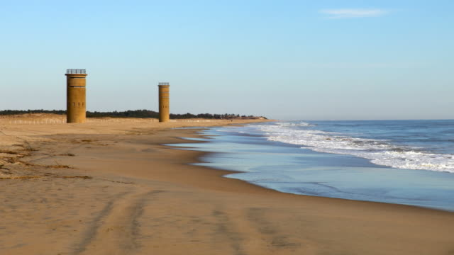 submarine towers in cape henlopen - eastern usa stock videos & royalty-free footage