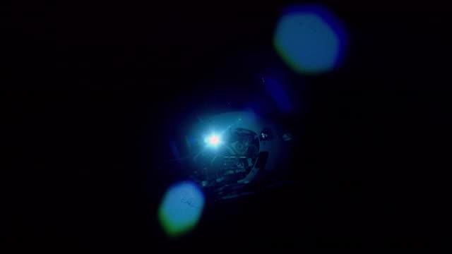 submersible lights as it rises from deep ocean floor, mid atlantic ridge - submarine stock videos & royalty-free footage