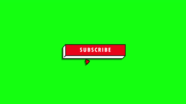 subscribe and bell button - cursor stock videos & royalty-free footage