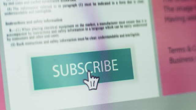 subscribe button - permission concept stock videos & royalty-free footage