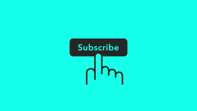 subscribe icons - vector animate - subscribe stock videos and b-roll footage