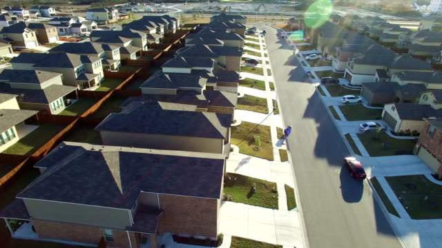 suburb austin texas over new development real estate area in north austin close to round rock - driveway stock videos & royalty-free footage