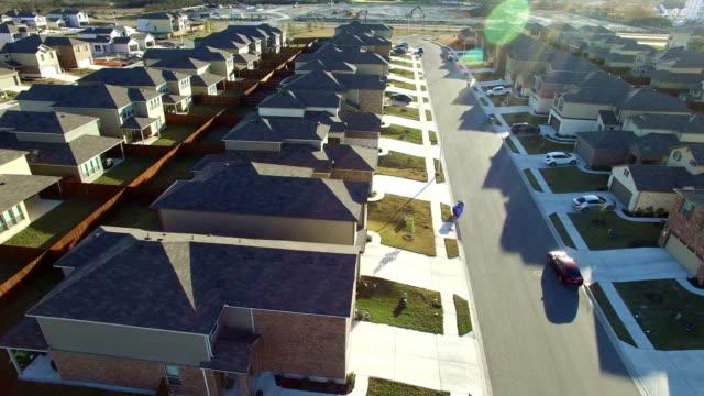 Suburbio Austin Texas sobre la nueva área de desarrollo de bienes raíces en North Austin cerca de Round Rock