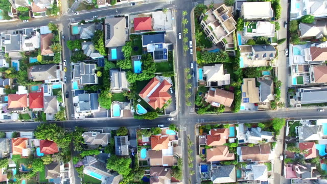 suburb life from a bird's eye view - suburban stock videos & royalty-free footage