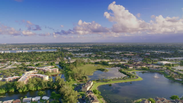 aerial suburb of miami, florida - housing difficulties stock videos & royalty-free footage