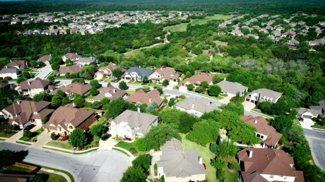 suburb real estate hill country homes - cedar park texas stock videos & royalty-free footage