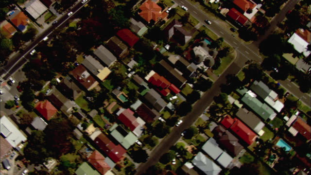 WS AERIAL Suburban area with multiple houses and streets, Sydney, New South Wales, Australia