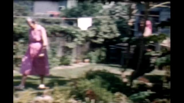 1965 suburban backyard - hair length stock videos and b-roll footage