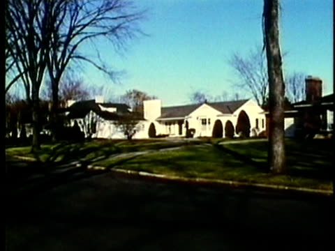 vidéos et rushes de montage, suburban detroit home exteriors, 1960's, michigan, usa - 1960 1969