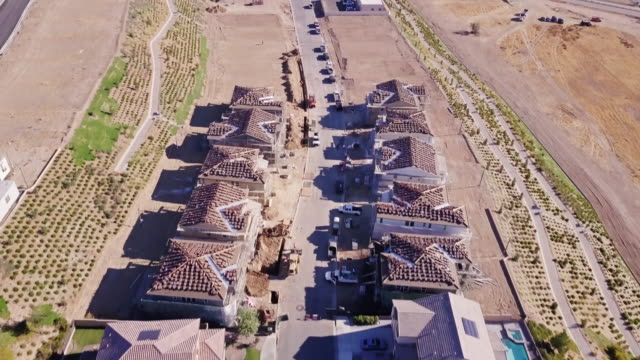 suburban development in southern california - aerial view - santa clarita stock videos and b-roll footage