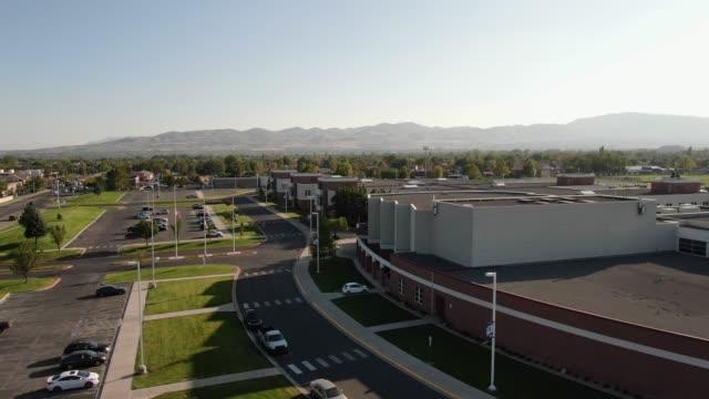 suburban high school stock video - secondary school stock videos & royalty-free footage