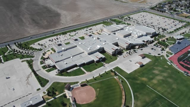 suburban high school - secondary school stock videos & royalty-free footage