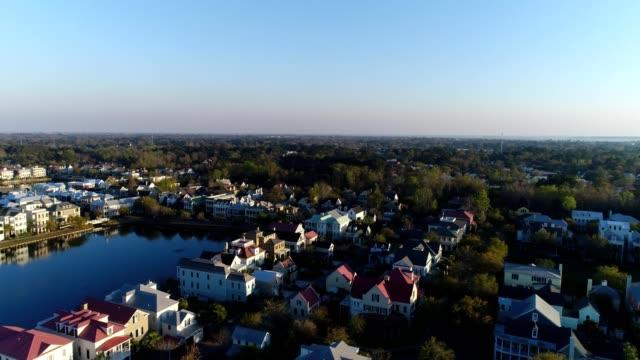 suburban homes in charleston south carolina - charleston south carolina stock videos & royalty-free footage