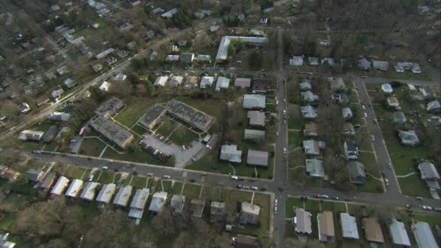 aerial suburban houses / baltimore, maryland, usa - geographical locations stock videos & royalty-free footage