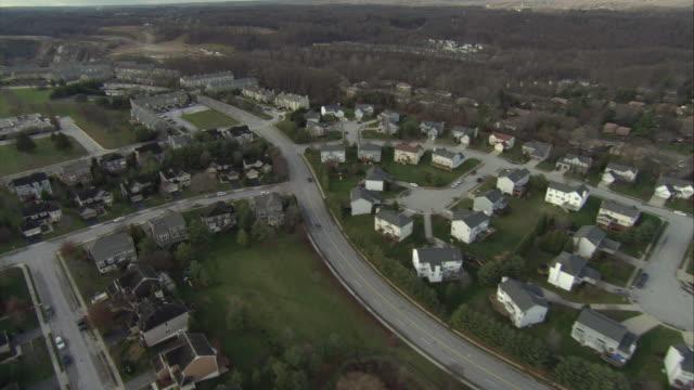 aerial suburban houses / baltimore, maryland, usa - baltimore maryland stock videos & royalty-free footage