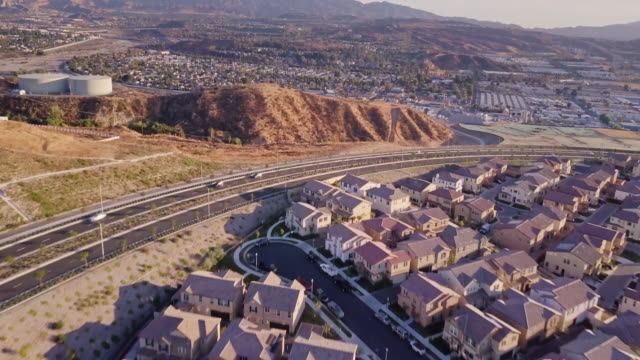 suburban housing - aerial view - santa clarita stock videos and b-roll footage