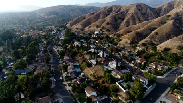 suburban neighborhood - antenna aerial stock videos & royalty-free footage