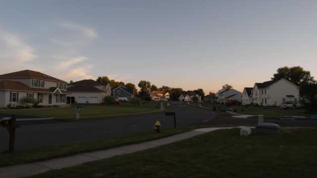 suburban neighborhood view timelapse - district stock videos & royalty-free footage