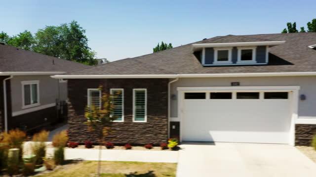 suburban usa neighborhood with fresh pavement - driveway stock videos & royalty-free footage