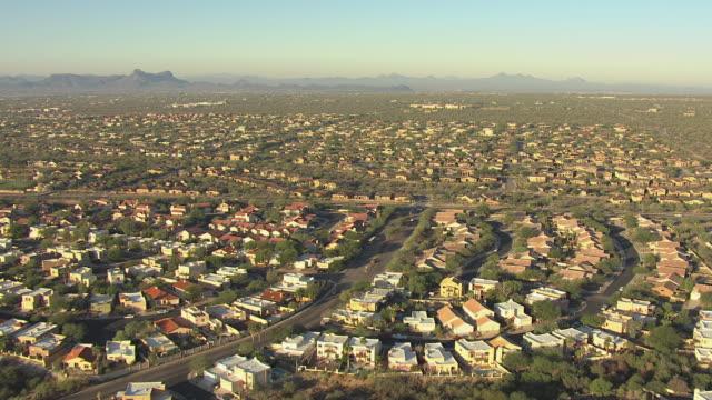 WS AERIAL Suburbs in Pima County / Tucson, Arizona, United States