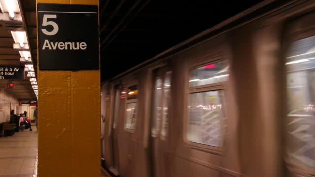 subway arrival - circa 5th century stock videos & royalty-free footage