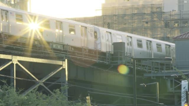 Subway at sunset