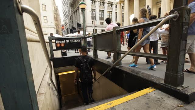 Subway entrance timelapse
