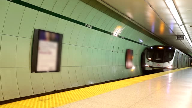 hd vdo :subway in canada - toronto stock videos & royalty-free footage