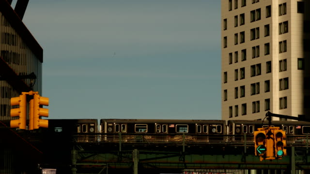 subway in long island city - queens new york city stock videos & royalty-free footage