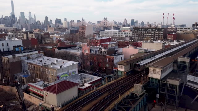 subway in queens - new york city subway stock videos & royalty-free footage