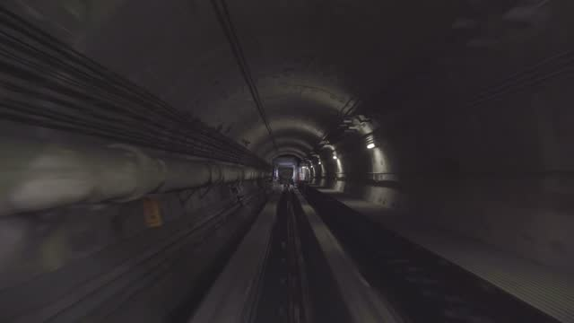 subway runs in tunnel - headlight stock videos & royalty-free footage