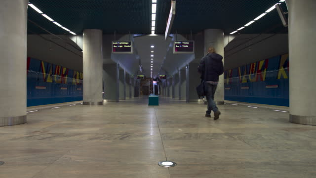 subway station in warsaw - number 2 stock videos & royalty-free footage