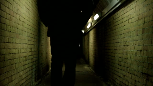 subway stranger. back view. 11 seconds. - alley stock videos & royalty-free footage
