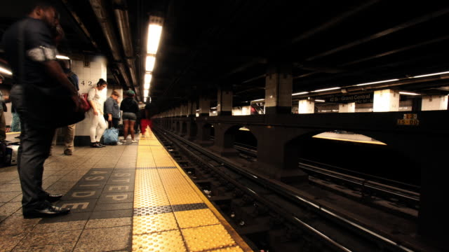 subway timelapse - new york city penn station stock videos and b-roll footage