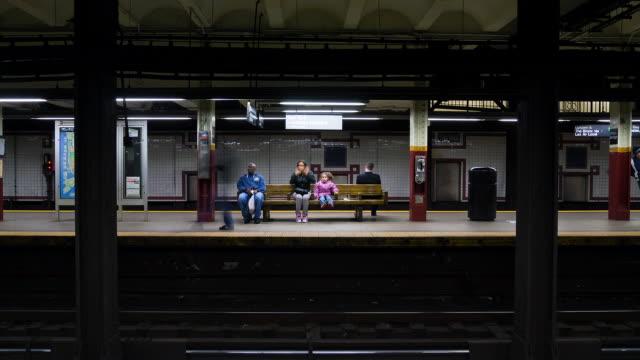 subway traffic shot from platform - new york city subway stock videos & royalty-free footage