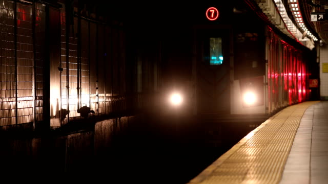 subway train arrival - underground rail stock videos & royalty-free footage