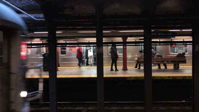 subway train arrives - public transport stock videos & royalty-free footage