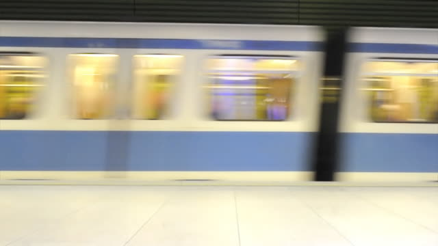 Subway train entering station (HD720p)