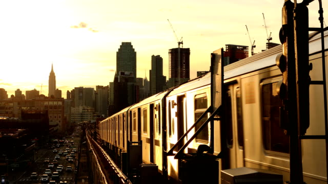subway train in queens new york city - queens new york city stock videos and b-roll footage