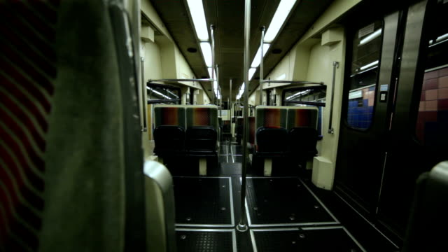 treno della metropolitana all'interno - haifa video stock e b–roll