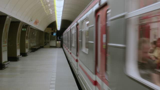 WS Subway train leaving station
